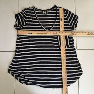 H by bordeaux Tops - H by Bordeaux Striped V-Neck Tee